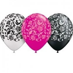 Damask Print Balloon