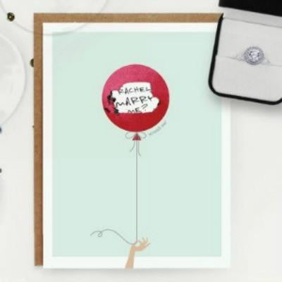 Inklings | Make Your Own Scratch Card - Blue Balloon