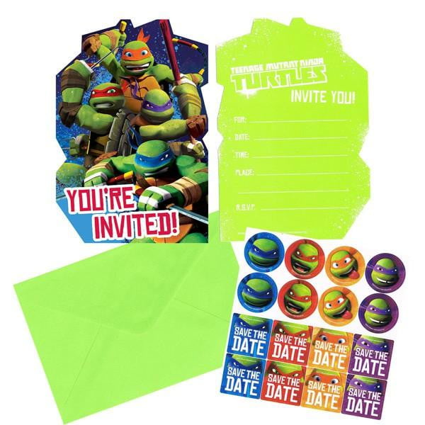 Teenage Mutant Ninja Turtle Invitations | Teenage Mutant Ninja Turtle Party