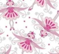 Pink and Silver Fairy Mini Table Runner