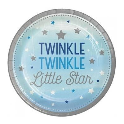 Party Creations | One Little Star Blue Lunch Plates