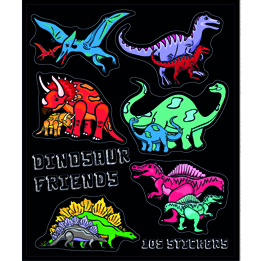 Dinosaur sticker book | Dinosaur party theme and supplies