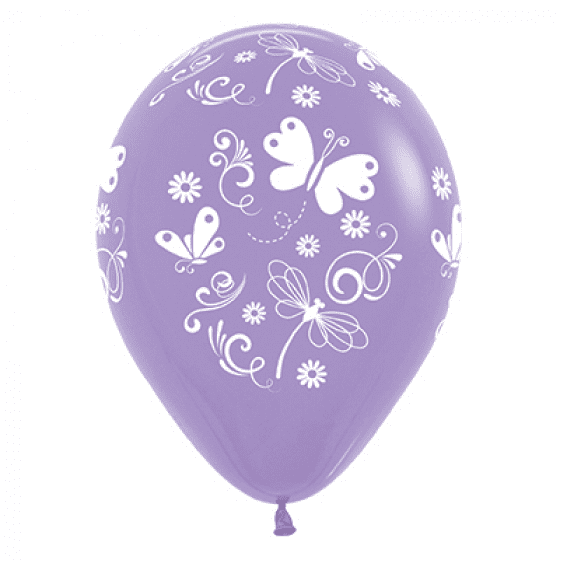 Sempertex | Purple Butterflies & Dragonflies Balloons - Pack of 6  |