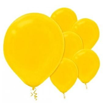 Amscan | Value Balloons Pack of 15 - Sunshine Yellow