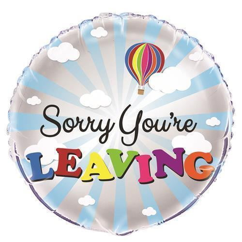 Unique | Sorry You're Leaving Foil Balloon