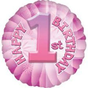 Anagram | Happy 1st Birthday Pink Foil Balloon