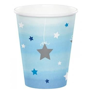 Party Creations | One Little Star Blue Cups | 1st Birthday Party Theme & Supplies