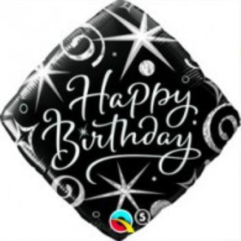 Qualatex | Elegant Happy Birthday Foil Balloon