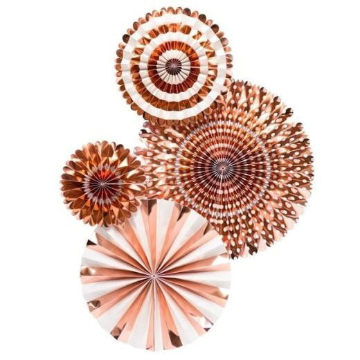 My Minds Eye Basics Party Fans - Rose Gold