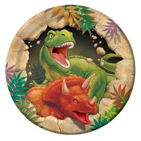 Dino Blast Plates | Dinosaur Party Supplies