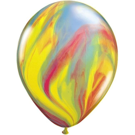 Qualatax | Traditional SuperAgate Balloon | Marble Balloons | Marble Party