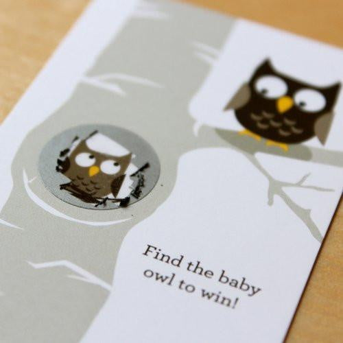 Inklings | Owl Scratch Card Game | Baby Shower Party Theme & Supplies