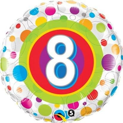 8th Birthday Balloon | 8th Birthday Party Supplies