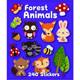 Forest Animal Sticker Book | Animal Party Theme & Supplies