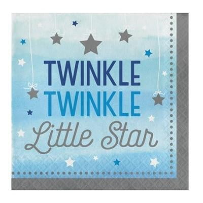 Party Creations | One Little Star Blue Napkins