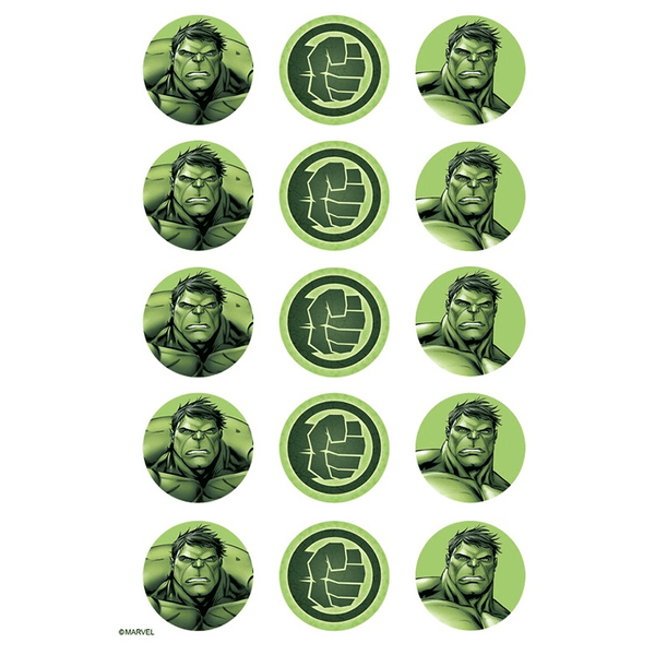 Hulk Edible Cupcake Toppers | Hulk Party Supplies