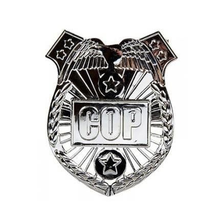 Amscan | Police Party Silver Badge | Police Party Theme & Supplies