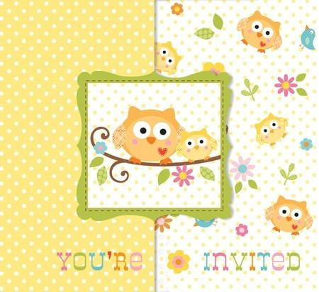 Owl Invitations | Owl Party Theme and Supplies | Baby Shower Supplies