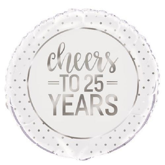 Cheers to 25 Years Foil Balloon | Anniversary Party Theme & Supplies | Unique
