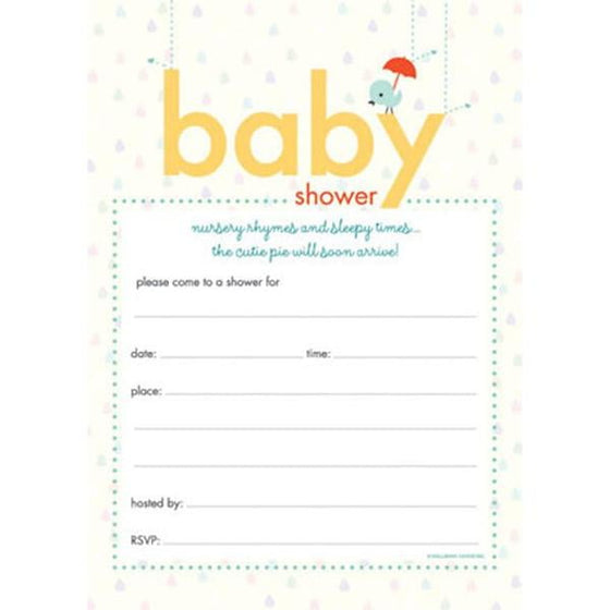 Nursery Rhymes & Sleepy Times Baby Shower Invitations