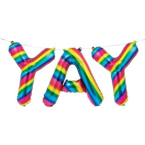 Rainbow Yay Banner | Rainbow Party Supplies