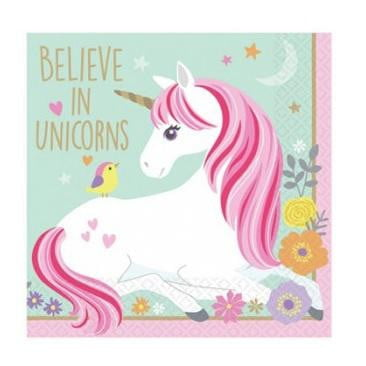 Magical Unicorn Napkins - Beverage | Unicorn Party Theme & Supplies