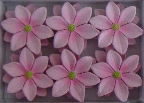 Wooden Pink Frangipani Flowers Stick Ons | Fairy Themed Party Supplies