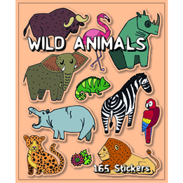 Wild Animals Sticker Book | Animal Party Theme & Supplies