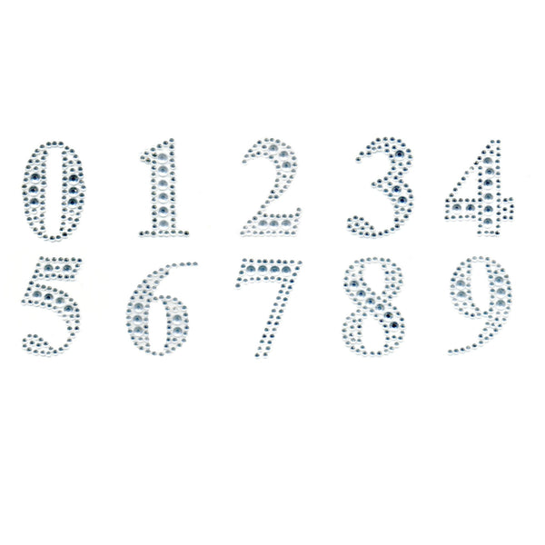 Diamante Number Sticker | Bling Number Sticker | Crafts NZ