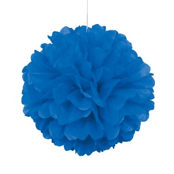 Blue Pom Pom Decorations | Boy's 1st Birthday Party Supplies