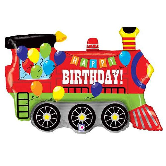 Train Foil Balloon | Train Party Supplies