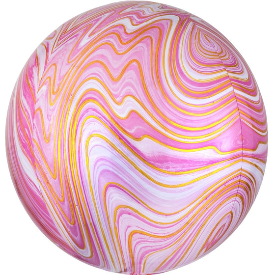 Marblez Orbz Foil Balloon - Pink | Marble Party Theme & Supplies | Anagram