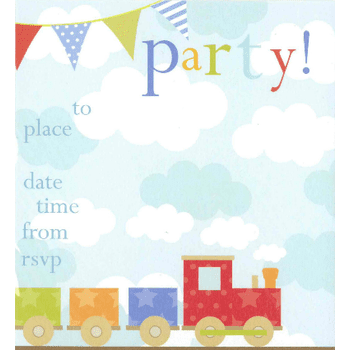 Train Invitations | Train Party Theme and Supplies