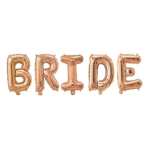 Rose Gold Bride Balloon Banner | Bridal Shower Decorations