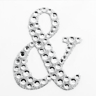 Ampersand Sticker | Bling Sticker | Diamante Sticker