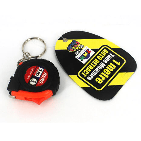 Tape Measure Key Chain | Construction Party Theme and Supplies
