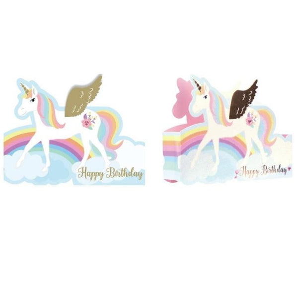 Artwrap |Unicorn Happy Birthday Card | Unicorn Party Theme & Supplies