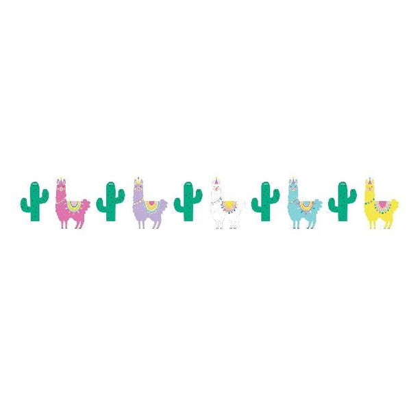 Amscan | Llama Party Shaped Banner | Llama Party Theme & Supplies