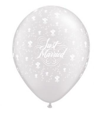 Just Married Latex Balloon