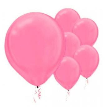 Amscan | Value Balloons Pack of 15 - Pearl Bright Pink