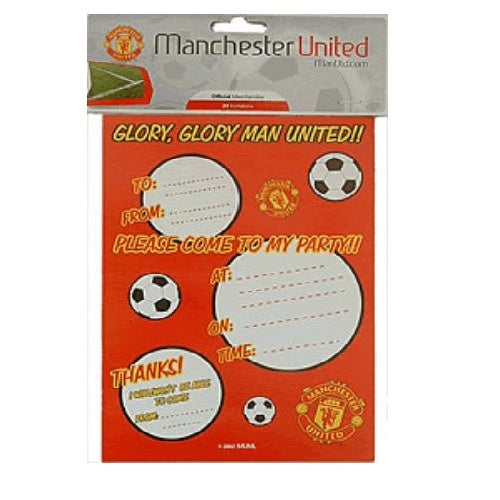 Manchester United Invitations | Manchester United Party Theme & Supplies |