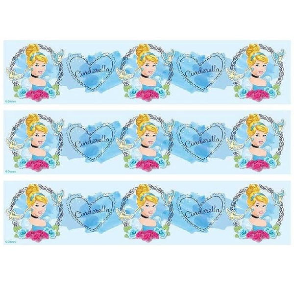 Cinderella Cake Strip Edible Images