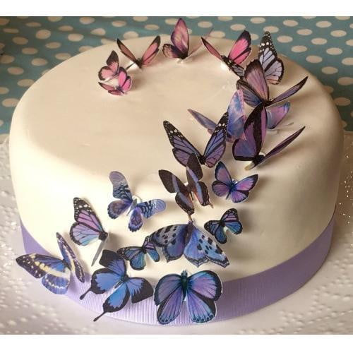 Sweet Whimsy | Purple Butterfly Edible Images