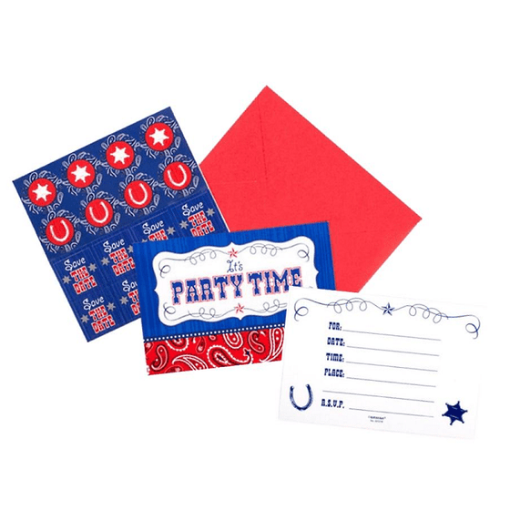 Cowboy Invitations | Western Party | Cowboy Party