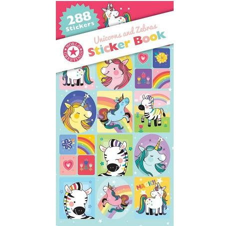 World Greetings | Unicorns & Zebras Sticker Book WEB5782 | Unicorn Party Theme & Supplies