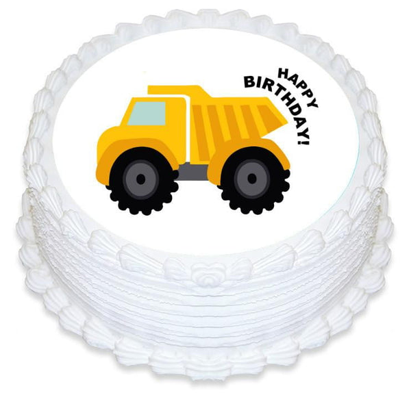 Dump Truck Edible Cake Image | Construction Party Theme & Supplies