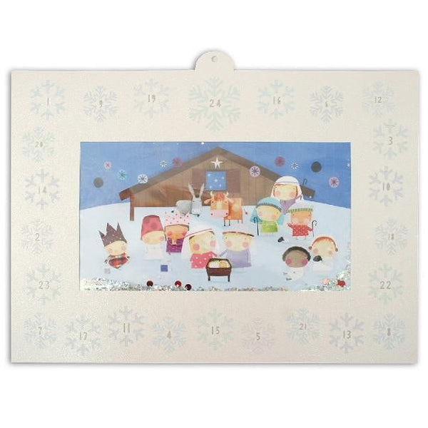 Glitter Nativity Advent Calendar | Christmas Supplies