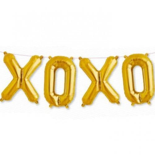 North Star Balloons | Gold Foil Balloon Bunting - XOXO