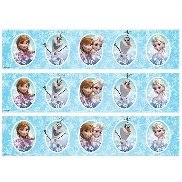 Frozen Cake Strip Edible Images
