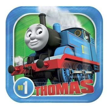 Thomas the Tank Engine Square Plates - Lunch